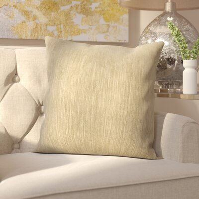 Hollins Gem Woven Decorative Pillow Cover Color: Sand