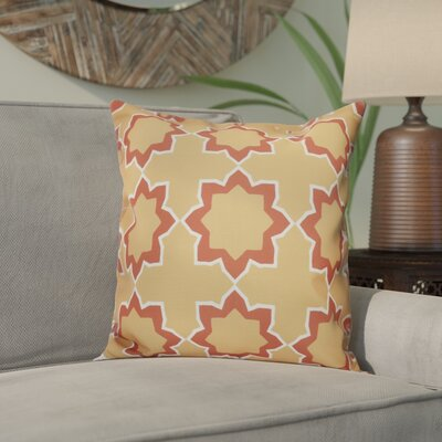 Meetinghouse Bohemian 2 Geometric Outdoor Throw Pillow Size: 18 H x 18 W, Color: Gold