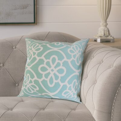 Throw Pillow Color: Caribbean Blue, Size: 18 x 18