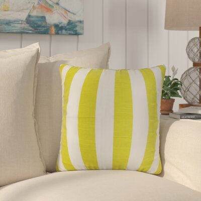 Staples Stripes Cotton Throw Pillow Color: Green