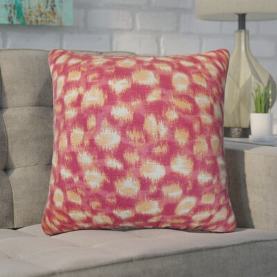 Kibby Throw Pillow Color: Azalea, Size: 20 x 20