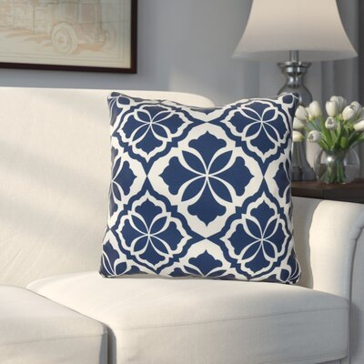 Murdock Geometric Print Throw Pillow Size: 18 H x 18 W x 3 D, Color: Blue