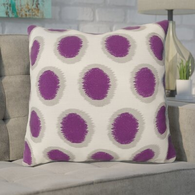 Mcelhaney Throw Pillow Color: Purple