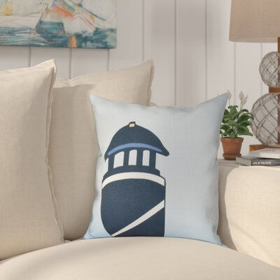 Hancock Safe Harbor Geometric Print Throw Pillow Size: 18 H x 18 W, Color: Navy Blue