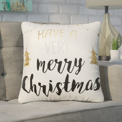 Buker Holiday Metallic 100% Cotton Throw Pillow