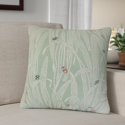 Casazza Foliage Throw Pillow Color: Green