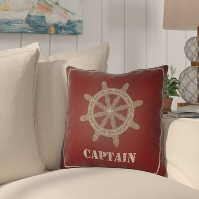 Woodcreek Indoor/Outdoor Throw Pillow Size: 18 H x 18 W x 4 D, Color: Red