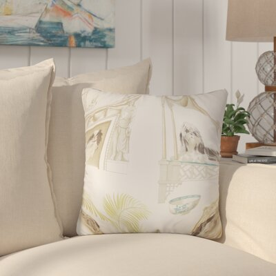 Aashish Animal Print Cotton Throw Pillow Color: Ivory