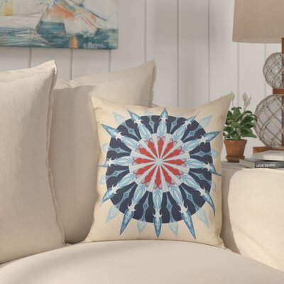 Hancock Sea Wheel Geometric Print Outdoor Throw Pillow Size: 18 H x 18 W, Color: Taupe