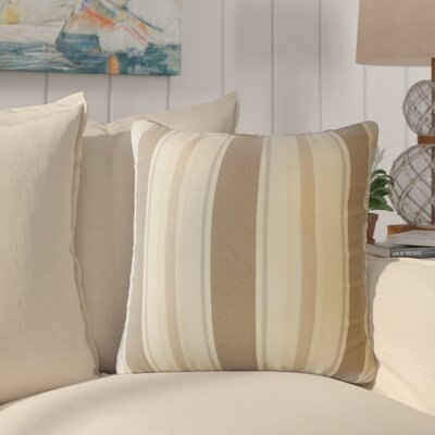 Jolana Striped Down Filled Throw Pillow Size: 22 x 22, Color: Driftwood