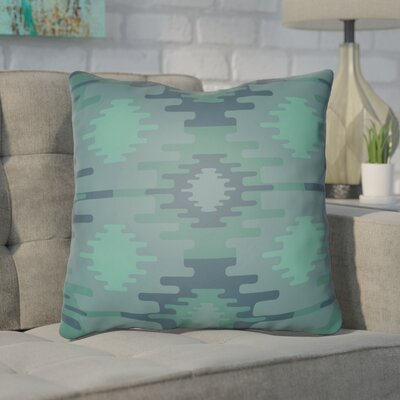 Adamson Square Throw Pillow Size: 18 H x 18 W x 3.5 D, Color: Green