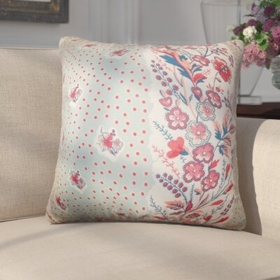 Gottfried Floral Cotton Throw Pillow Color: Sea Green