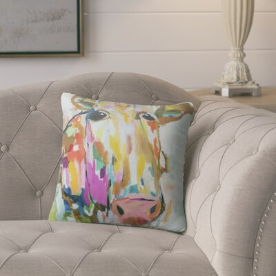 Simonska Moo Throw Pillow Size: 24 H x 24 W