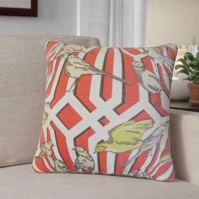 Largay Cotton Throw Pillow Color: Poppy