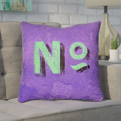 Enciso Graphic Indoor Wall Throw Pillow Size: 14 x 14, Color: Purple/Green