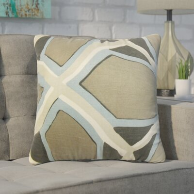 Wiltse Geometric Linen Throw Pillow Color: Gray