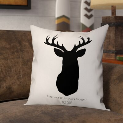 Mentzer Buck Head Throw Pillow