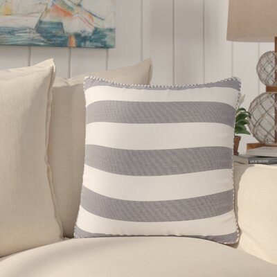 Stowe Modern Striped Throw Pillow Pillow Cover Color: Blue