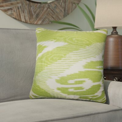 Delano Ikat Linen Throw Pillow Color: Fern, Size: 20 x 20