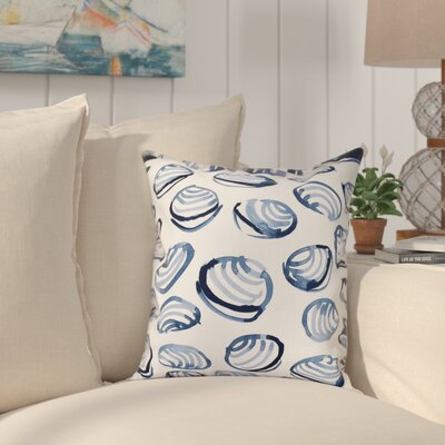 Cedarville Clams Geometric Print Outdoor Throw Pillow Size: 20 H x 20 W, Color: Blue