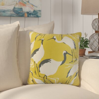 Lafitte Animal Print Cotton Throw Pillow Color: Yellow