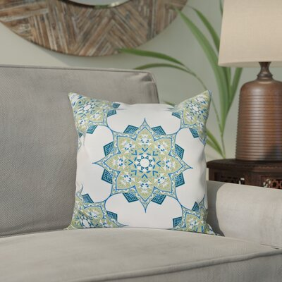 Meetinghouse Rhapsody Geometric Print Throw Pillow Size: 26 H x 26 W, Color: Green