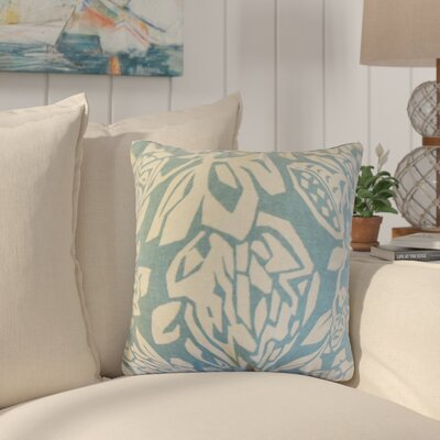 Eswer Foral Cotton Throw Pillow Color: Cove