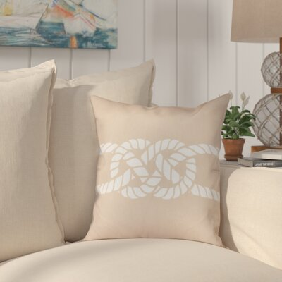 Hancock Carrick Bend Geometric Throw Pillow Size: 18 H x 18 W, Color: Beige/Taupe