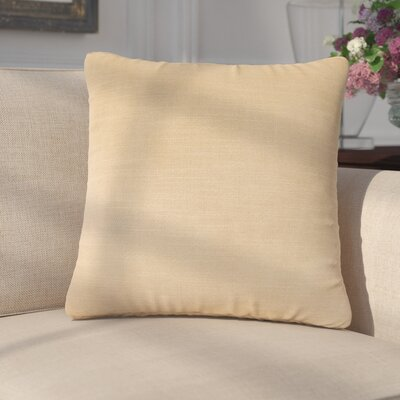 Mckayla Stain Resistant Down Filled Throw Pillow Color: Flax