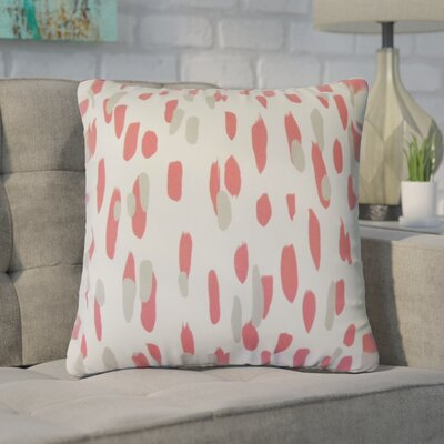Wigfall Down Filled 100% Cotton Throw Pillow Size: 18 x 18, Color: Rhubarb