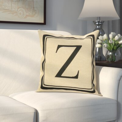 Beaver Creek Monogram Throw Pillow Letter: Z