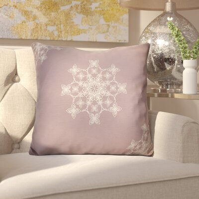 Decorative Holiday Geometric Print Throw Pillow Size: 18 H x 18 W, Color: Light Pink