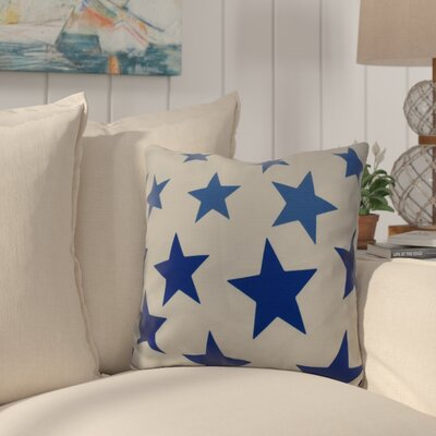Petersfield Just Stars Indoor/Outdoor Throw Pillow Size: 18 H x 18 W, Color: Blue