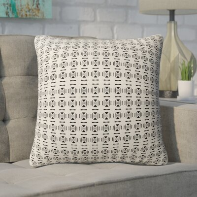Beringer Throw Pillow Color: Black/Tan, Size: 16 H x 16 W
