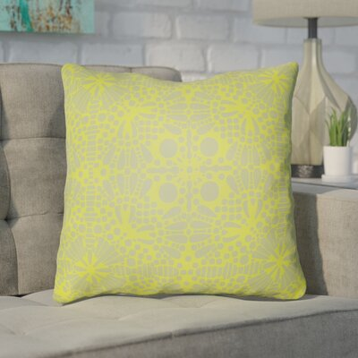 Zanuck Throw Pillow Size: 18 H x 18 W x 4 D, Color: Lime