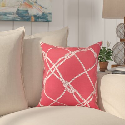 Edmeston Outdoor Throw Pillow Size: 20 H x 20 W, Color: Jalapeno
