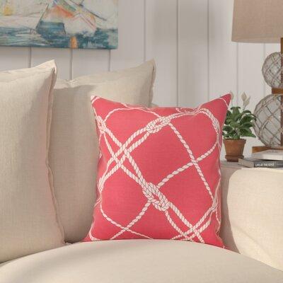 Edmeston Outdoor Throw Pillow Size: 17 H x 17 W, Color: Jalapeno