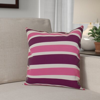 Hanukkah 2016 Decorative Holiday Striped Throw Pillow Size: 16 H x 16 W x 2 D, Color: Purple