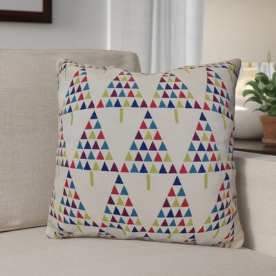 Decorative Holiday Outdoor Throw Pillow Size: 16 H x 16 W, Color: White