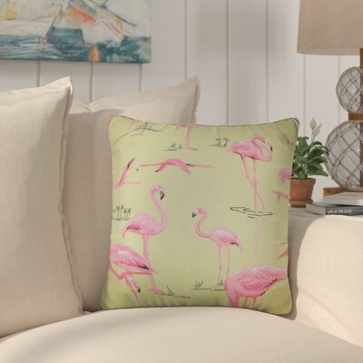 Colleen Animal Print Throw Pillow Color: Bermuda, Size: 18 x 18