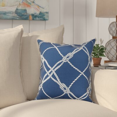 Edmeston Outdoor Throw Pillow Size: 17 H x 17 W, Color: Navy