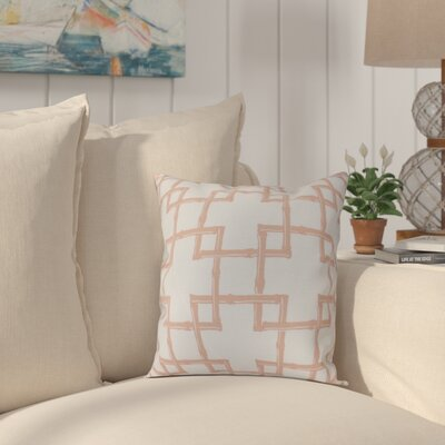 Connelly Bamboo 2 Geometric Throw Pillow Size: 18 H x 18 W, Color: Coral