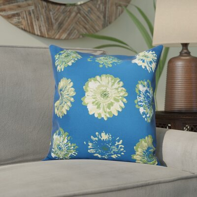 Willa Floral 2 Outdoor Throw Pillow Size: 20 H x 20 W, Color: Teal/Green