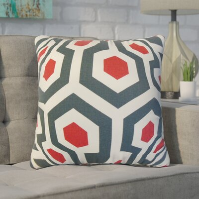 Wolfenbarger Geometric Cotton Throw Pillow Color: Dark Blue