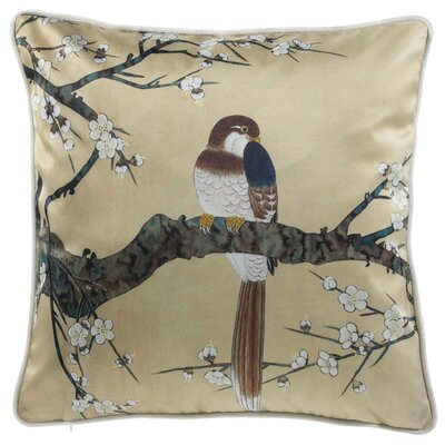 Lampkin Bird Watcher Throw Pillow