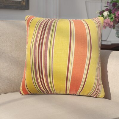 Emelie Stripes Cotton Throw Pillow Color: Orange