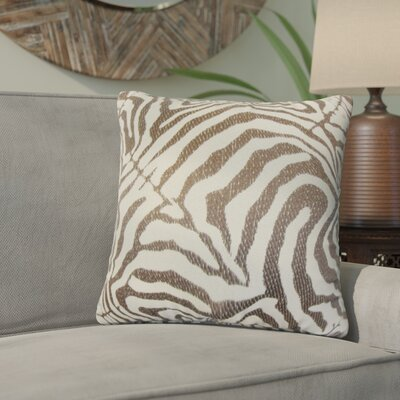 Ber Zebra Print Cotton Throw Pillow Color: Cocoa