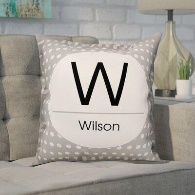Buntin Initial Polka Dots Throw Pillow