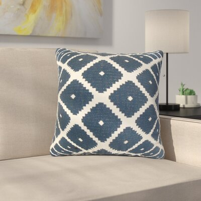 Dimatteo Strayhorn Geometric Cotton Throw Pillow Color: Blue