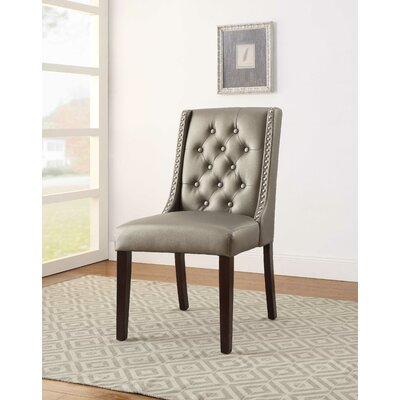 Knuth Upholstered Dining Chair Upholstery Color: Silver